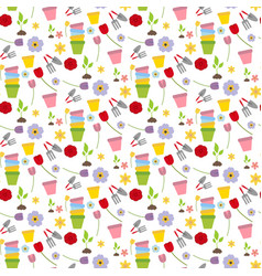 Flower garden pattern vector