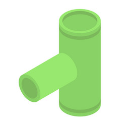 Green gutter pipe icon isometric style vector