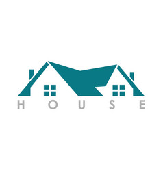Home roof logo vector