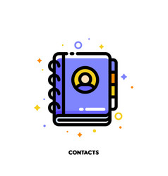 Icon notebook or address phone book vector