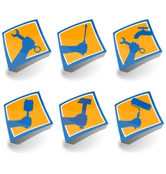 icons set for repair vector image