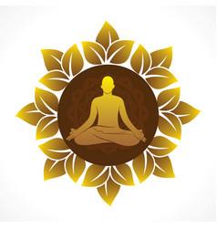 international yoga day poster vector image