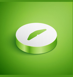Isometric homemade pie icon isolated on green vector