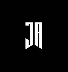 ja logo monogram with emblem style isolated vector image