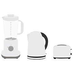 Kettle toaster nad blender vector image