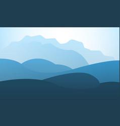 Landscape mountain peak horizon travel background vector