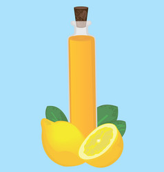 lemon essential oil aromatherapy healthcare vector image