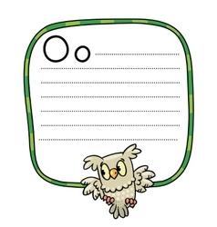 Little owl for ABC Alphabet O vector image