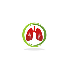 Lung pulse logo vector