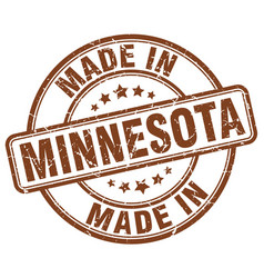 Made in minnesota brown grunge round stamp vector