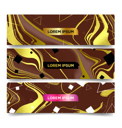 marble brochure and banner vector image