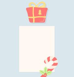 Merry christmas social media story template vector