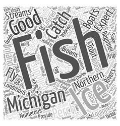 michigan fishing Word Cloud Concept vector image