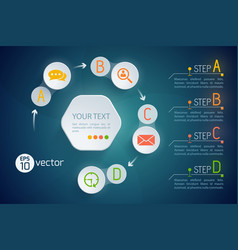 modern abstract flowchart concept vector image
