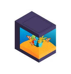 Modern style aquarium composition vector