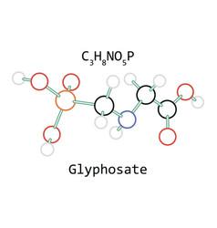 Molecule glyphosate c3h8no5p vector