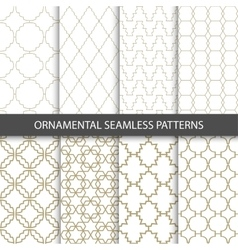Ornamental grid patterns in vintage style - vector