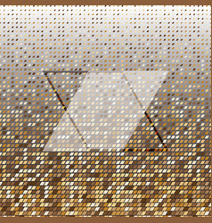 Parallelogram gold halftone dot abstract vector