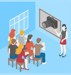 photography class courses photographer tutorial vector image