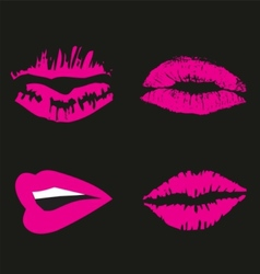 Pink Lips logo icon symbol free vector
