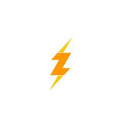 Power letter z logo icon design vector