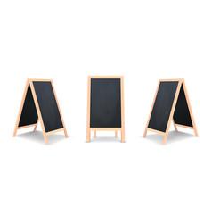 realistic special menu announcement board icon set vector image