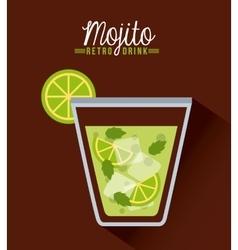 retro drinks vector image