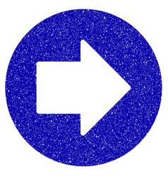 Right arrow icon grunge watermark vector