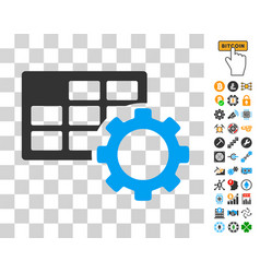 Schedule settings icon with bonus vector