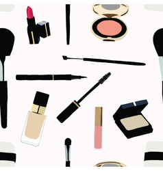 Seamless Makeup and cosmetics vector