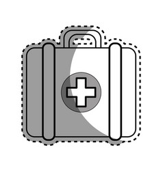Silhouette first aid kit medications tools vector