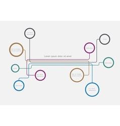 Simple web design bubbles vector