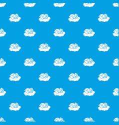 sleeping panda pattern seamless blue vector image