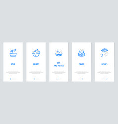 soup vertical cards with strong metaphors vector image