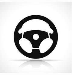 steering wheel black icon vector image