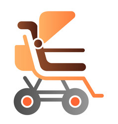 Stroller flat icon bapushchair color icons in vector