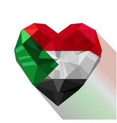 Sudanese heart flag of the sudan vector