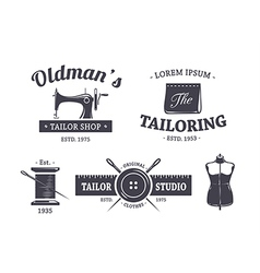 Tailor Emblems 1 vector image