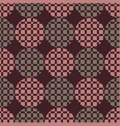 The pattern of circles and squares vector