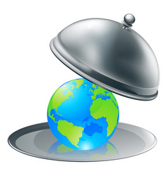 the world on a plate vector image