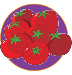 tomato graphic vector image