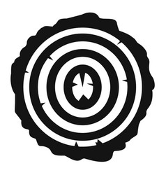 tree rings icon simple style vector image