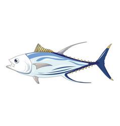 Tuna fish icon cartoon style vector