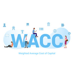 Wacc weighted average cost capital concept vector