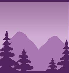 wanderlust landscape design vector image