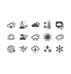 weather and forecast icons cloudy sky winter vector image