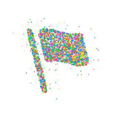 Abstract flag splash vector