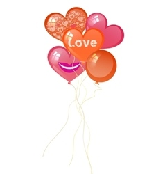 balloons Valentine s Day in the form of heart vector image vector image