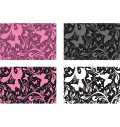 floral boxes vector image vector image