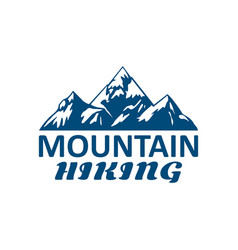 mountain hiking or hike tour sport icon vector image